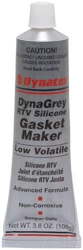 Dynatex 47181 DynaGrey Low Volatile RTV Silicone Gasket Maker, -85 to 500 Degree F, 3.8 oz Carded Tube, Grey by Dynatex