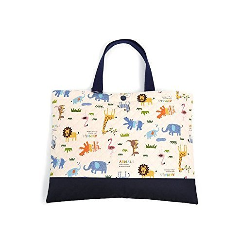 Kids lesson bag of handmade sense (quilting) Savannah crossing animal parade (generation) made in Japan N0226300 (japan import)