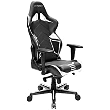 DXRacer Racing Series DOH/RV131/NW Office Chair Gaming Chair Carbon Look Vinyle Ergonomic Computer Chair eSports Desk Chair Executive Chair Furniture with Free Cushions (Black/White)