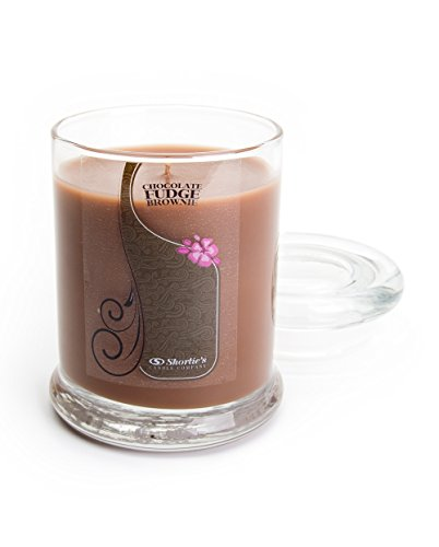 Chocolate Fudge Brownie Candle - Small Brown 6.5 Oz. Highly Scented Jar Candle - Made with Natural Oils - Bakery & Food Collection