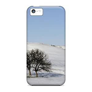 5c Scratch-proof Protection Case Cover For Iphone/ Hot Winter Snow Scene Phone Case