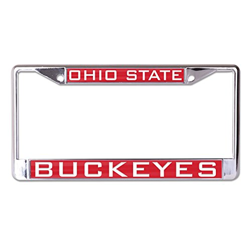 Wincraft NCAA Ohio State Buckeyes Inlaid Metal License Plate Frame, 2-Tag -
