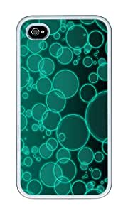 iPhone 4 Case,iPhone 4S Case,VUTTOO iPhone 4 Cover With Photo: Green Bubbles For Apple iPhone 4/4S - TPU White
