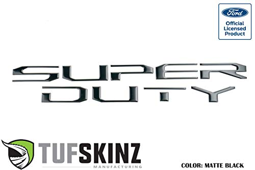 - TufSkinz   Hood Letter Inserts - Fits 2017-20 Super Duty(Matte Black)