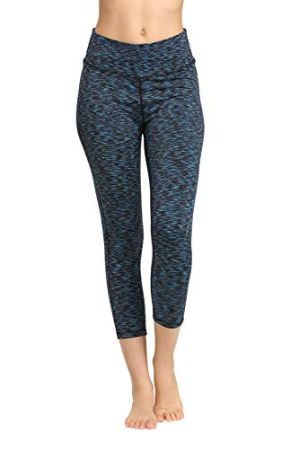 CYZ Women's Space-Dyed Ankle Leggings-Teal-L -