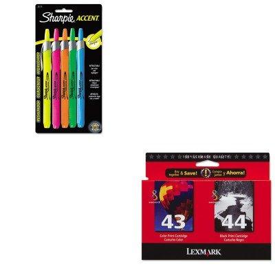 KITLEX18Y0372SAN28175PP - Value Kit - Lexmark 18Y0372 Ink (LEX18Y0372) and Sharpie Retractable Highlighters (SAN28175PP)