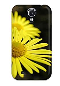 Galaxy S4 Hybrid Tpu Case Cover Silicon Bumper Yellow Flowers 4909766K64717114
