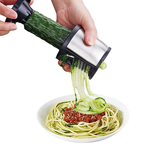 Stainless Steel Spiral Slicer Vegetable Spiralizer Handheld Cutter