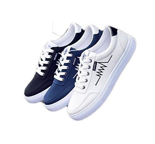 Ein Bißchen Herren sport Schuhe casual mode antirutsch schlicht sneaker Weiß