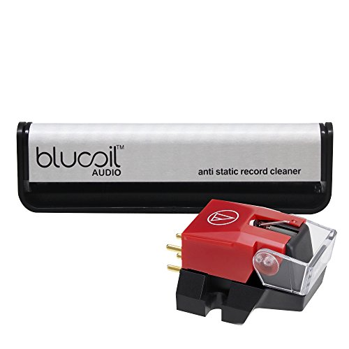 Audio Technica VM540ML Dual Moving Magnet Cartridge -INCLUDES- Blucoil Audio Carbon Anti-Static Fiber Cleaning Brush for Vinyl/LP Records by blucoil