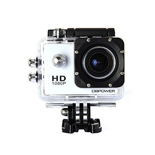 DBPOWER Waterproof Action Camera 12MP 1080P HD with 2 Batteries and Free Accessories Kit(White) Size: 1.5 inch Color: White, Model: , Electronics & Accessories Store Action Cameras DBPOWER