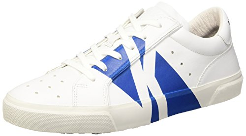 Bikkembergs Rubb-er 668 L.Shoe M Leather, Sandalias con Plataforma para Hombre, Bianco Blanco (White/Bluette)