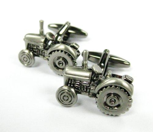(Tailor B Gun Metal Tractor Cufflinks Car Automotive Cuff Links Farmer's)
