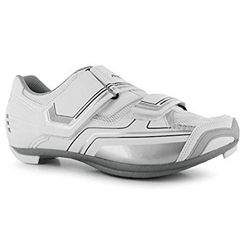 Muddyfox Womens RBS100 Cycling Shoes - White / Silver - Size 5.5