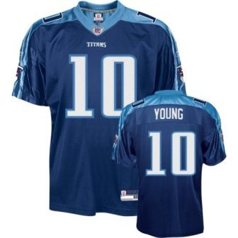 Vince Young Titans Navy Reebok Authentic Jersey Maillot