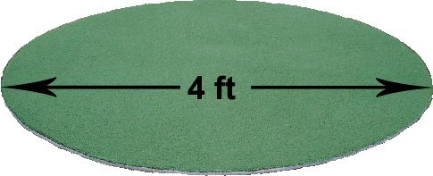 PREMIUM PRO TURF 4 Foot Diameter ON Deck Batting Circle (4x4) ()