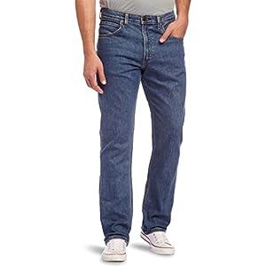 Lee – Mens Lee Jeans Original BROOKLYN STRAIGHT Zip Fly Denim Trousers – STONEWASH-L34, 34