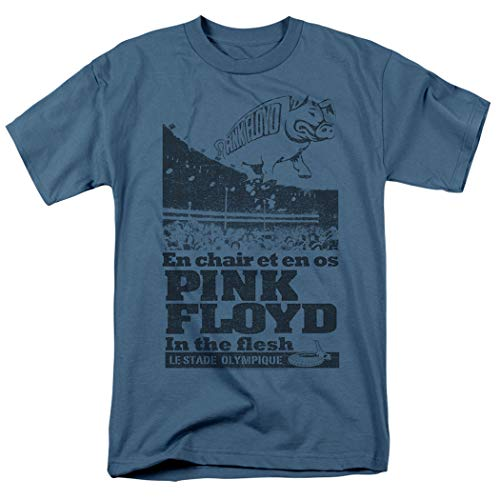 Pink Floyd in The Flesh Live Rock Band T Shirt & Exclusive Stickers (Small) (Pink Floyd In The Flesh Guitar Tab)