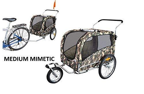 Remolque y carrito para bicicleta para el transporte de perros Polironeshop Argo
