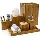 Intriom 竹浴室配件系列 棕色 Bathroom Set B012
