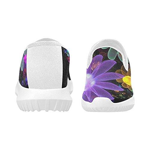 D-histoire Chaussures Mode Slip-on Femmes Chaussures De Sport Fleurs Colorées