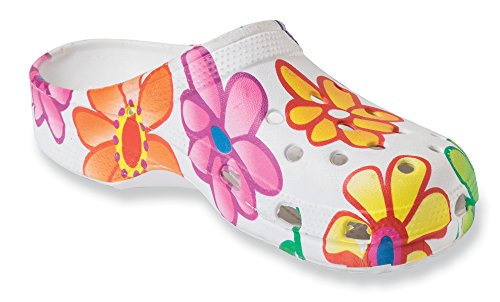 The Paragon Women's Clogs - Floral, Non Slip, Soft Shoes 9 B(M) US
