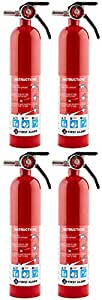 First Alert HGKJX Rechargable MJU Standard Home Fire Extinguisher, Red, 2 Pack