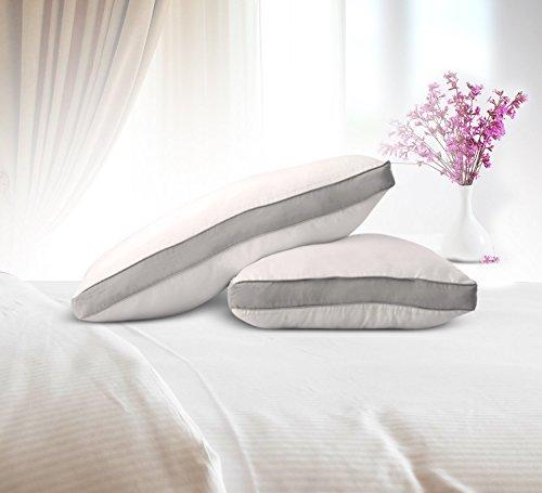 Utopia Bedding Premium Fiber Filled Bed Pillows (2 Pack, White) StandardQueen Sized Pillows For Sleeping