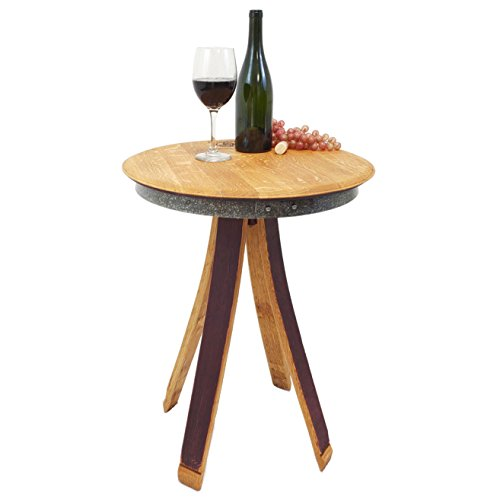 Inverted Leg Side End Table - Wine Barrel Handcrafted - Central Coast Creations - Wine Barrel Furniture