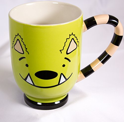 Whatif Monster Mug   Green 12 Ounce Mug With Custom Designed Shape And Extra Large Handle For Coffee  Tea  Drinks   Mns Creative By Michelle Nelson Schmidt
