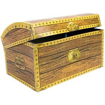 "Beistle Home Party Decoration Treasure Chest Box 11 3/4"" x 8"