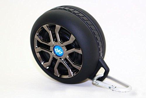 sneed-waterproofワイヤレスBluetoothスピーカー。頑丈な耐衝撃性と防水ポータブルワイヤレススピーカー車Tyres、ブラック   B01EY13CQY