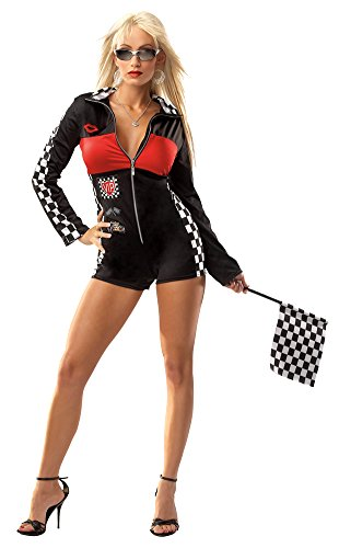 [Racer Girl Sexy One Size Halloween Costume - Most Adults] (Girl Racer Halloween Costume)