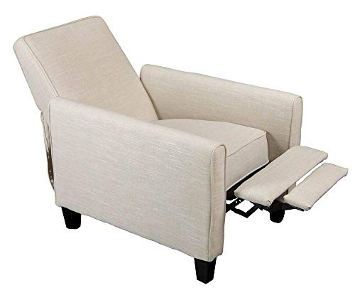 Best Selling Davis Fabric Recliner Club Chair, Light Beige (For Sale Chairs Odd)