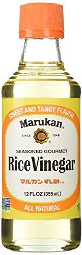 Marukan Seasoned Gourmet Rice Vinegar 2 Fl. Oz. Pack of 1 Plus a Free Gift Trident Gum