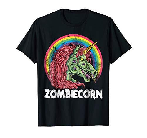 Zombiecorn Zombie Unicorn T shirt Halloween Women -