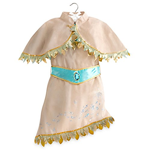 Pocahontas Costume Disney (Disney Store Little Girls Pocahontas Costume Dress Tan Sz 4T)