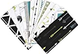 Life Uncontained Budget Envelopes | Cash Envelopes | Saving System | Receipt Organizer | 24 Piece Set Includes 12 Laminated Color Envelopes and 12 Double-Sided Expense Tracker Sheets (Tree & Arrows)