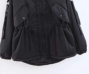 KCatsy Donna Plus Size Cappotto Parka Giacche Puffer Piumino Trapuntato Imbottito Tasche con Cerniera Caldo Cappotto Invernale