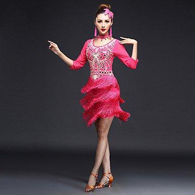 Tanz-Outfit WUDAOFU KleiderElastan PolyesterDamen PolyesterDamen PolyesterDamen Kleid Neckwear Halbe Sleeve Hoch B074H2G9VV Bekleidung Verschleißfest 0bd394