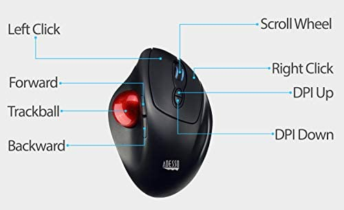Adesso Adesso iMouse T30-2 4 GHz Wireless 4 Button Desktop