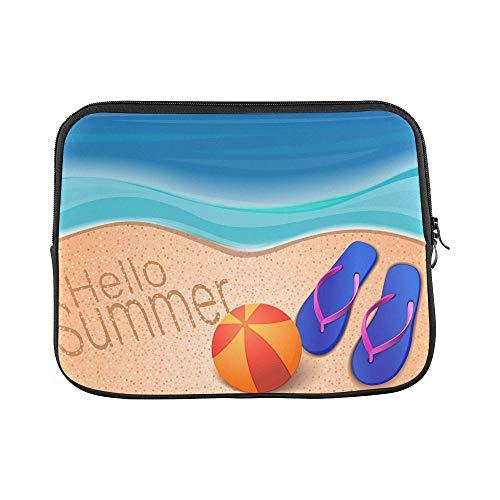 Design Custom Summer Sea Beach Ball Flip Sleeve Soft Laptop Case Bag Pouch Skin for Air 11