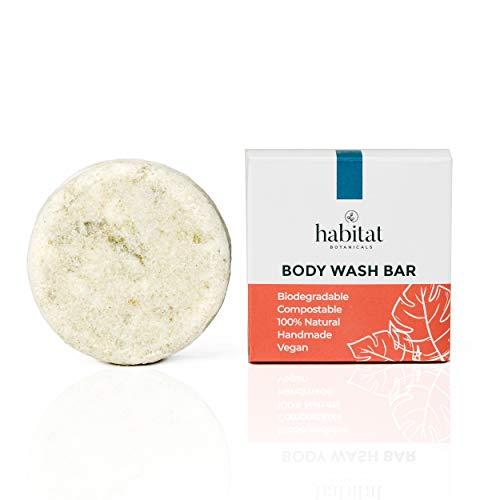 Habitat Botanicals: Natural Body Wash Bar – Plant Based – Zero Waste – Organic – Aluminum, Paraben, Phthalate, Cruelty…