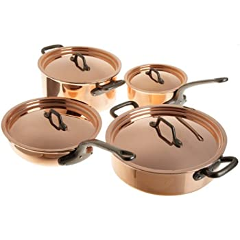 Matfer Bourgeat Matfer 915901 8 Piece Bourgeat Copper Cookware Set,