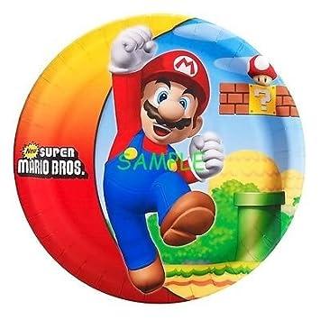 Sdore Super Mario Bros 8 Redondo Comestible Hoja De Cumpleaños