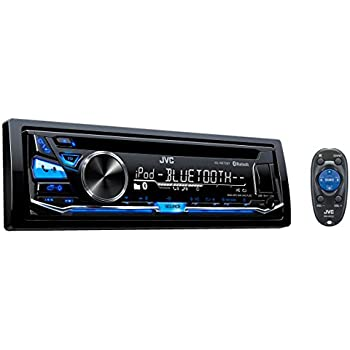 JVC KD-R870BT Built-in Bluetooth with Dual Phone Connection iPod/iPhone/Android CD MP3 AM FM USB AUX Input EQ Car Stereo Player w/ Pandora Control iHeart Radio compatibility Receiver w/ Remote Control