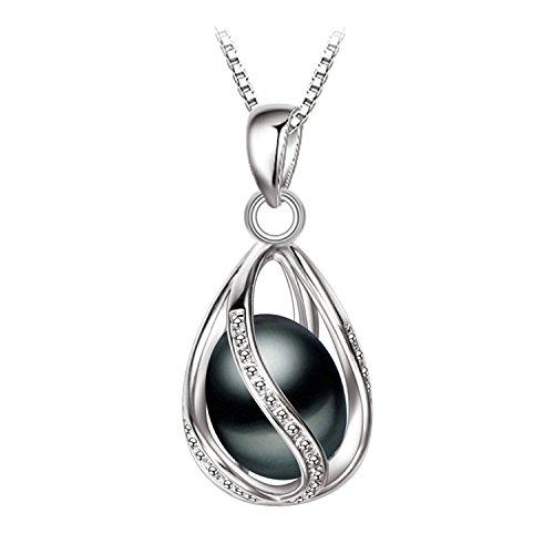 SuperLouisa Fashion Black Pearl Pendant AAAA pearl necklace & pendant ,pink pearl necklace pearl jewelry - 1980s Wiki Fashion