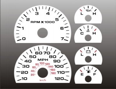 Amazon com: 2004-2008 Ford F150 White Face Gauges F-150 04