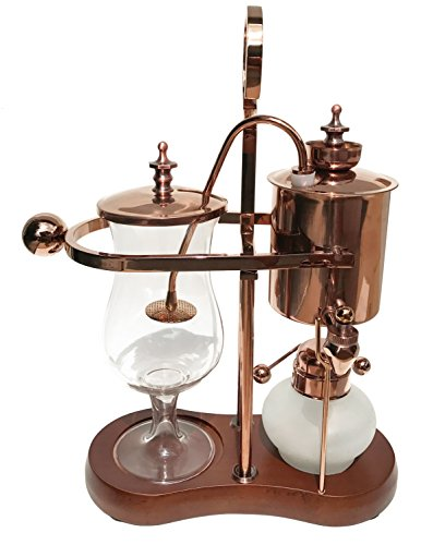 Nispira Belgian Belgium Luxury Royal Family Balance Syphon Siphon Coffee Maker Copper Color, 1 set (Best Luxury Coffee Maker)