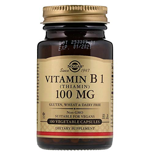 Solgar - Vitamin B1 (Thiamin) 100 mg, 100 Vegetable - B Vitamins 1 Vitamin